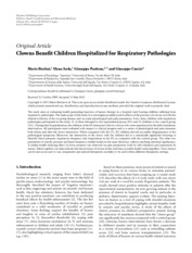 Clowns benefit children hospitalized for respiratory pathologies Bertini 2011 - leaders