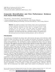 Corporate Diversification and Firm Performance Evidence.pdf