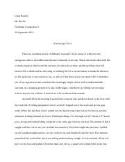 Major Essay One (Rewrite)