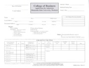 College of Business Major Application