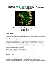 Pre-AP English I Required Summer Reading Assignment (1).docx