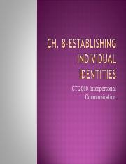 Ch. 8-Establishing Individual Identities.ppt