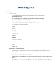 Accounting Notes Intro Chapter