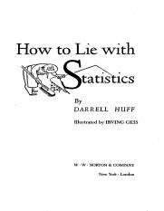 HOW TO LIE WITH STATISTICS.pdf