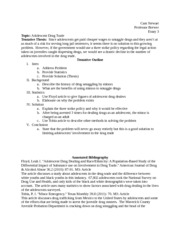 Annotated bibliography- Adolescent Drug Trade