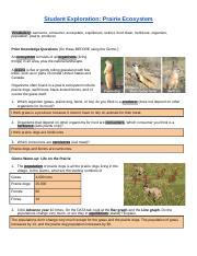 Prairie Ecosystem Gizmo.pdf - Name Date Student ...