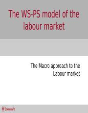 Week_7_The WS-PS model of the labour market