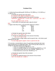 Worksheet 3 Key