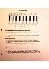 The Piano Keyboard worksheet