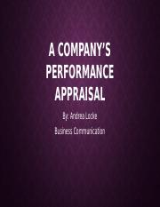 A Company's Performance Appraisal Bus. Com..pptx