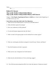 Strayer Ch. 1 reading outline