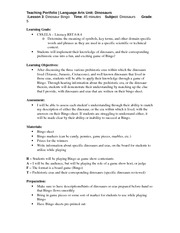 ENG 313 Lesson Plan #3 Dinosaur Bingo Fall 2013