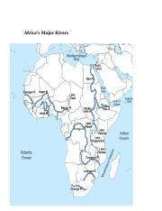 Africas Major Rivers