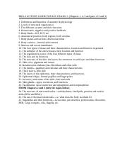 BIOL 212 STUDY GUIDE FOR LEC EXAM _ 1 docx