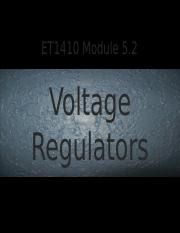 ET1410 Module 5.2 Voltage Regulators