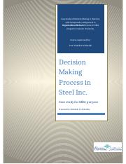 Individual Case- Steel Inc.docx