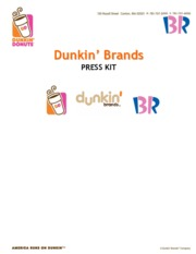 Dunkin Brands Press Kit - February 2015