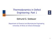 321 Thermodynamics in Defect Engineering Part 1