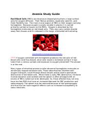 Anemia Study Guide-2