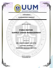 Ford Motor Supply Chain Management
