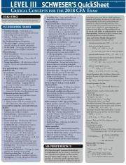 2018 CFA Level 3 Quicksheet pdf - Other CFA L3 materials