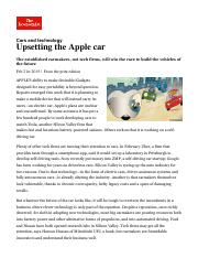 Economist Cars and technology_ Upsetting the Apple car _ The Economist.pdf