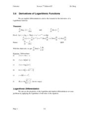 Calculus Notes 7E 3.6