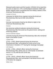American Revolution Quiz Answers