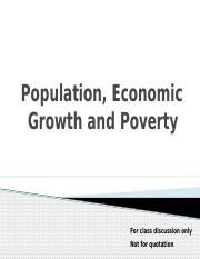 A7 Population, Economic Growth, and Poverty