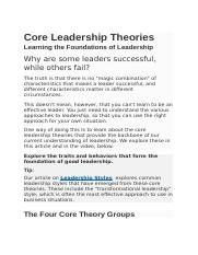 Core Leadership Theorie1.docx