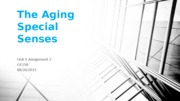 The Aging Special Senses