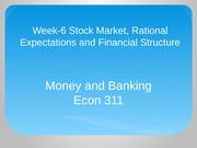 Econ 311 Week 6 Money and Banking PPT