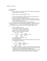 2007 Fall Midterm #2 Solutions