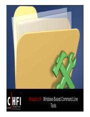 CHFI v4 Module 61 Windows Based Command Line Tools