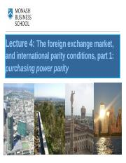 Lecture week 4 The foreign exchange market and PPP.pptx