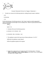 General Chemistry Review for Organic Chemistry 1