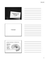 Chapter 9 - Language and thought handouts
