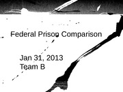 federal prison comparison paper Running head: jail and prisons comparison paper 1 jail and prisons   federal prisons were initially large facilities that restricted prisoners with.