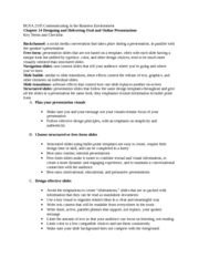 BUSA 2105 Chapter 14 Key terms and checklist