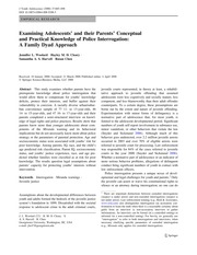 Woolard et al (2008) Examining Adolescents' and their Parents' Conceptual and Practical Knowledge of