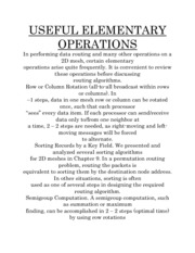 USEFUL ELEMENTARY OPERATIONS