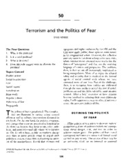 Altheide Terrorism and the Politics of Fear - Ch2 in Charon