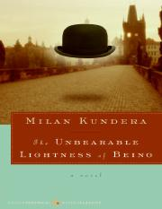 29-Milan Kundera - The Unbearable Lightness of Being.pdf