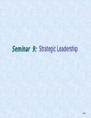 Seminar 10 - Strategic Leadership.pdf