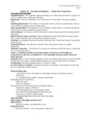 MYERS, Social Psyc, Chp 11 outline-notes
