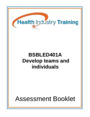 BSBLED401A-Develop-teams-and-individuals