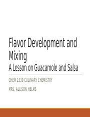 Module 4 Flavor Development, Mixing, and Produce.pptx