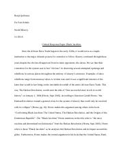 Critical Response Paper