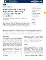 Guidelines for reporting expeiments involving animals.pdf