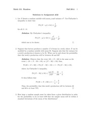 MATH 151 Fall 2014 Assignment 22 Solutions